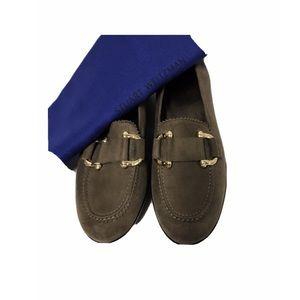 New! STUART WEITZMAN Suede Wedge Loafers